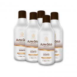 Шампунь Alpha Gold домашний уход 300 мл 5 штук