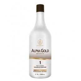 Подготавливающий шампунь для волос Alpha Gold 1000 мл