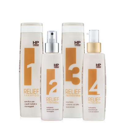 Relief холодное восстановление  для волос с эффектом эластинизации Rеlief 250/200/250/200 мл
