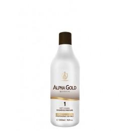 Подготавливающий шампунь для волос Alpha Gold 500 мл